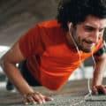 man doing push ups or press ups for muscular endurance reasons